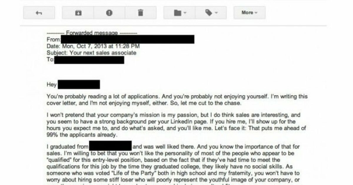The Worst Cover Letter Ever Written Literally The Muse